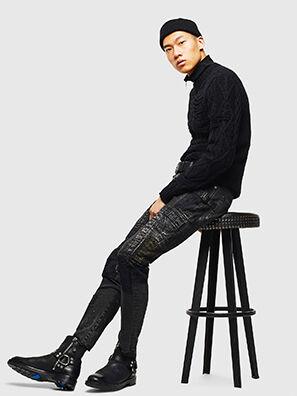 D-Strukt 0093P, Black/Dark grey - Jeans