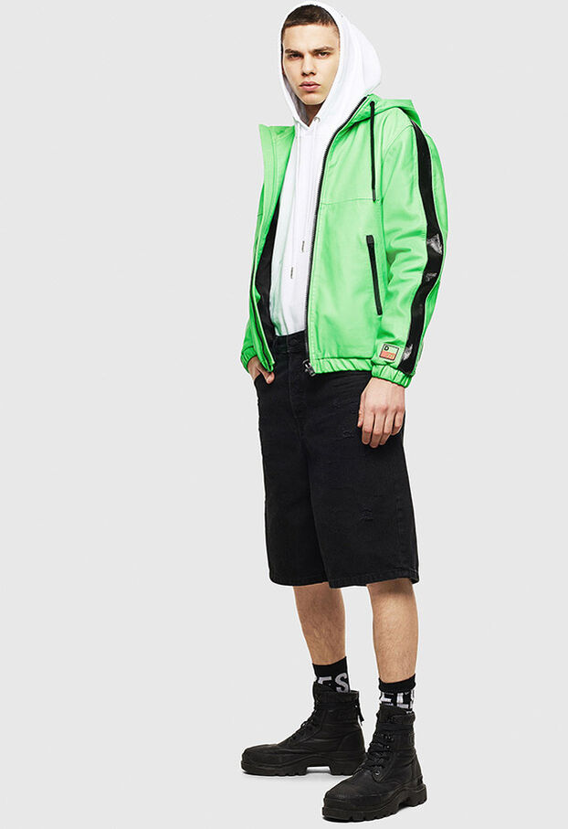 L-CARRSY, Green Fluo - Leather jackets