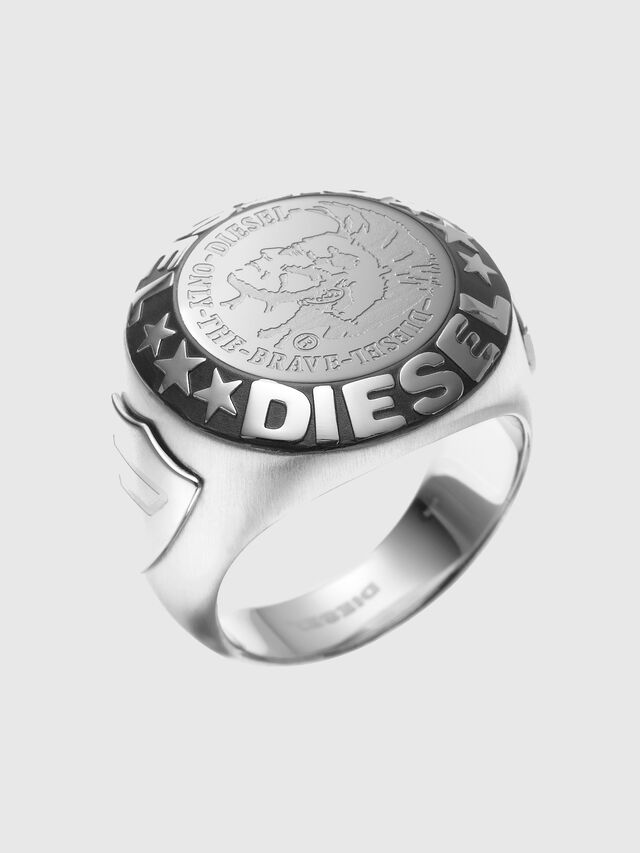 Diesel - RING WITH AN INDIAN, Silver - Rings - Image 1