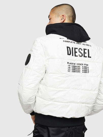 Diesel - W-ON, White - Winter Jackets - Image 2