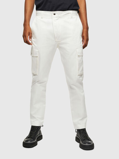 Diesel - P-JARED-CARGO, White - Pants - Image 1