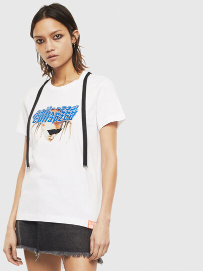 Diesel - T-SILY-S3, White - T-Shirts - Image 1