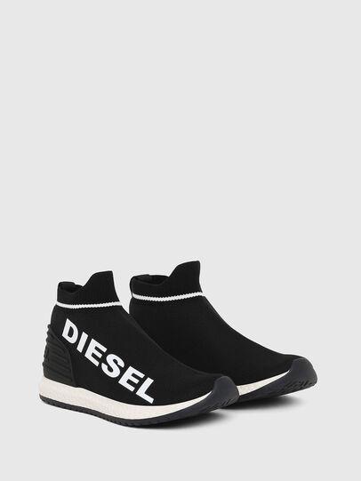 Diesel - SLIP ON 03 LOW SOCK, Black - Footwear - Image 3