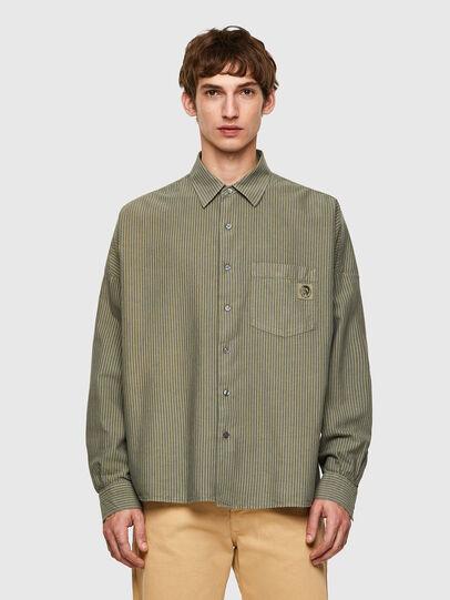 Diesel - S-LOOMY-B, Military Green - Shirts - Image 1