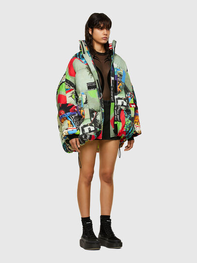 Diesel - W-EMMICK, Red/Green - Winter Jackets - Image 8