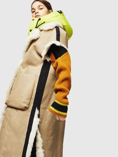 Diesel - L-IRTA, Beige - Leather jackets - Image 7