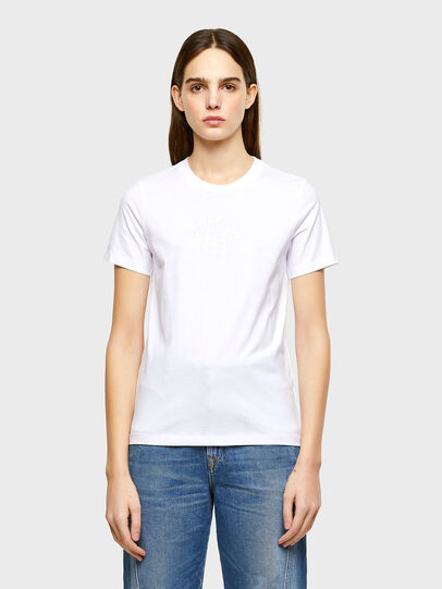 Diesel - T-SILY-K9, White - T-Shirts - Image 1