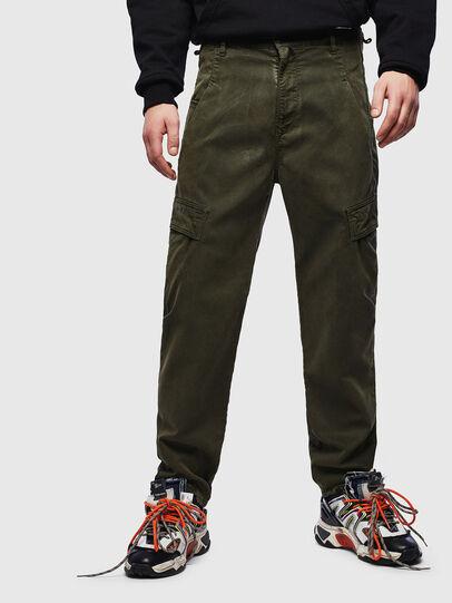 Diesel - D-Krett JoggJeans 069LX, Military Green - Jeans - Image 1