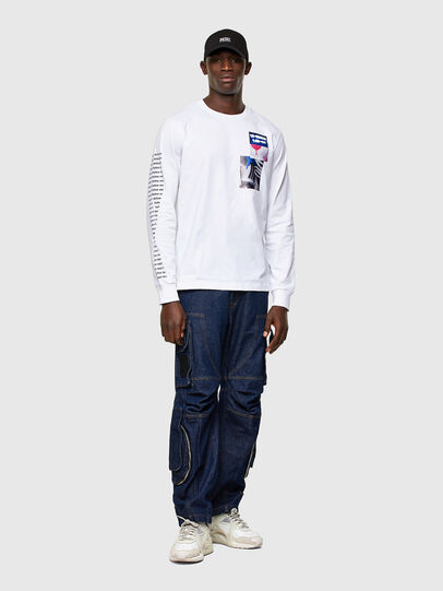 Diesel - T-JUST-LS-A10, White - T-Shirts - Image 4