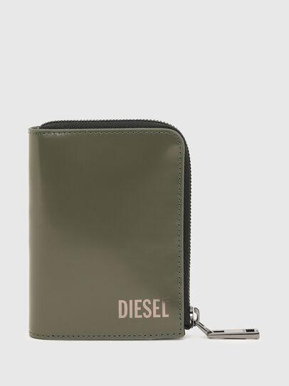 Diesel - L-12 ZIP, Olive Green - Zip-Round Wallets - Image 1