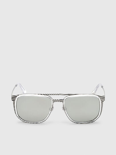 Diesel - DL0294, White/Black - Sunglasses - Image 1