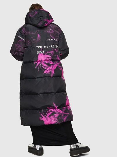 Diesel - W-DORYN-B, Black/Pink - Winter Jackets - Image 2