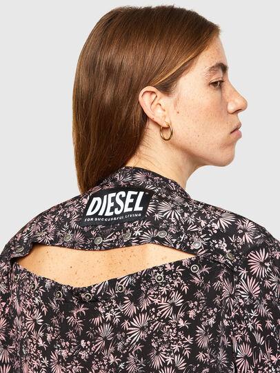 Diesel - D-SUPER-H-LONG, Black/Violet - Dresses - Image 3