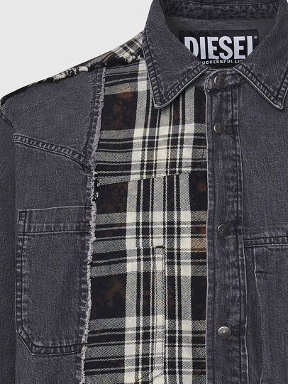 Diesel - D-FINLY, Dark grey - Denim Shirts - Image 3