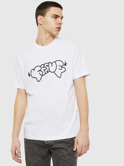 Diesel - T-JUST-T28, White - T-Shirts - Image 1