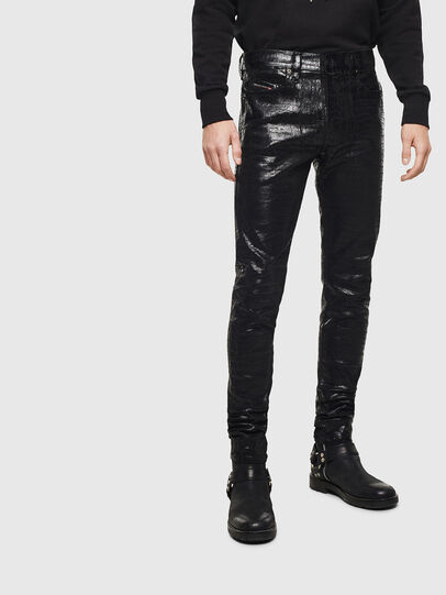Diesel - D-Istort 0094S, Black/Dark grey - Jeans - Image 1