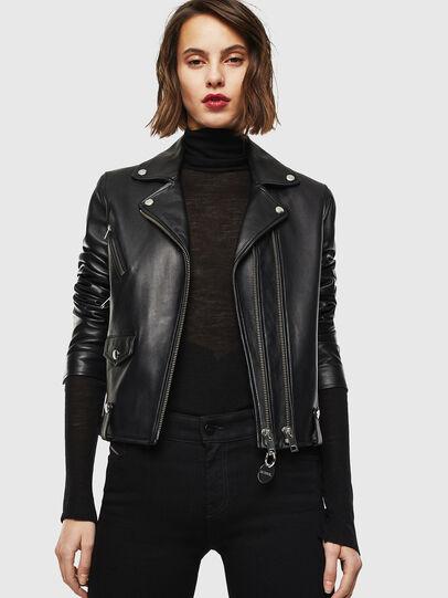 Diesel - L-LYFA, Black - Leather jackets - Image 6