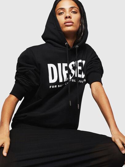 Diesel - F-GIR-HOOD-DIV-LOGO-, Black - Sweaters - Image 4