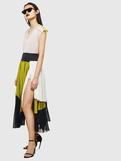 Diesel - O-ESCY, Black/Yellow - Skirts - Image 4