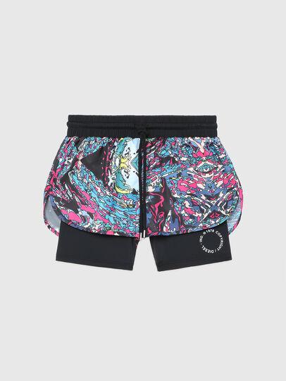 Diesel - BFOWT-FAUSTIN-SH-W, Black/Pink - Swim shorts - Image 1