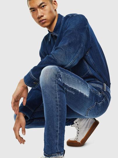 Diesel - Thommer 0097W, Dark Blue - Jeans - Image 3