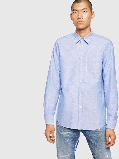 Diesel - S-MOI-R-B1, Azure - Shirts - Image 1