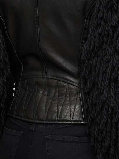Diesel - L-ELIZABETH, Black - Leather jackets - Image 7