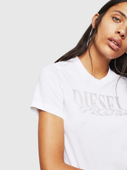 Diesel - T-SILY-WN, White - T-Shirts - Image 3