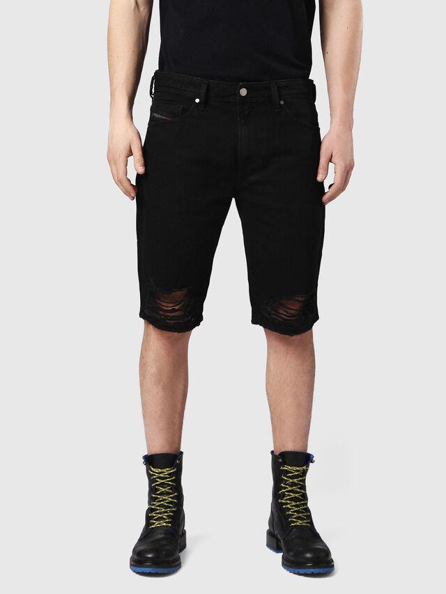 Diesel - THOSHORT, Black Jeans - Shorts - Image 1