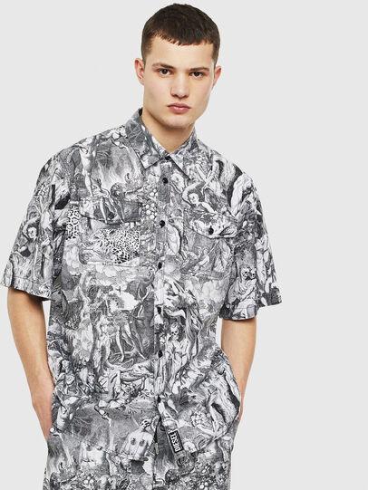 Diesel - S-WED-KAOS, Black/White - Shirts - Image 1