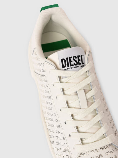 Diesel - S-CLEVER LOW LACE, White/Green - Sneakers - Image 4
