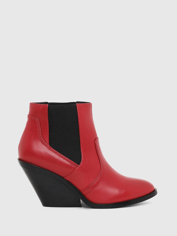 D-FLAMINGO CB, Red - Ankle Boots