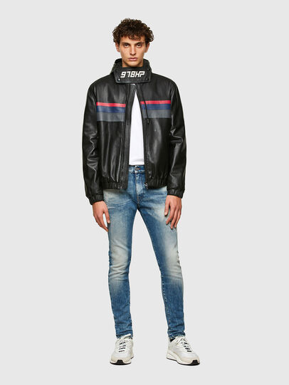 Diesel - L-CIRCLE, Black - Leather jackets - Image 5