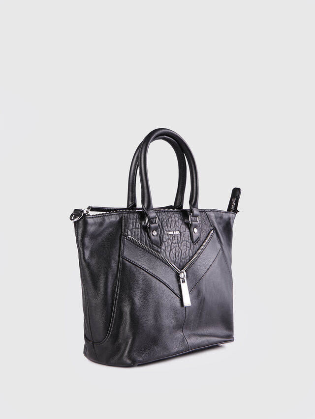 Diesel - LE-NINNA, Black - Shopping and Shoulder Bags - Image 2
