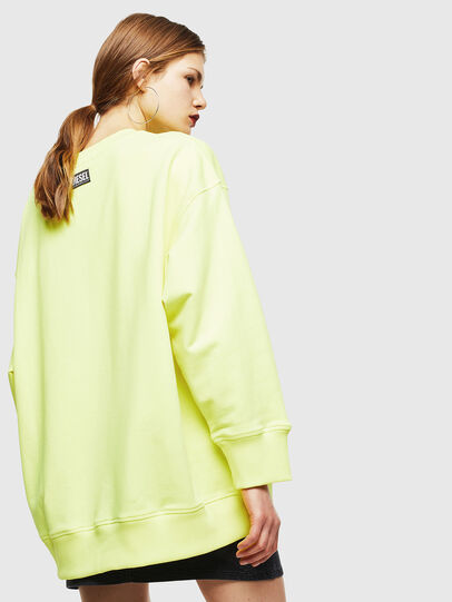 Diesel - F-AKUA, Yellow Fluo - Sweaters - Image 2