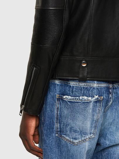 Diesel - L-STARKVILLE-A, Black - Leather jackets - Image 4