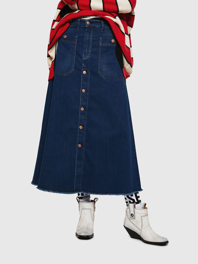 Diesel - D-RHITA JOGGJEANS, Medium blue - Skirts - Image 1