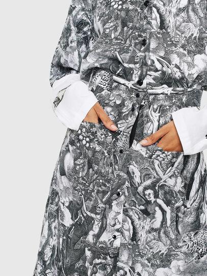 Diesel - O-MOYA-B, Black/White - Skirts - Image 3