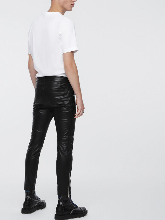 Diesel - P-MONTE-L, Black Leather - Pants - Image 2