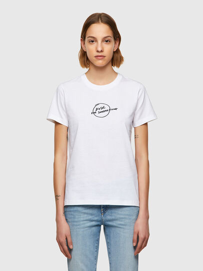 Diesel - T-SILY-B8, White - T-Shirts - Image 1