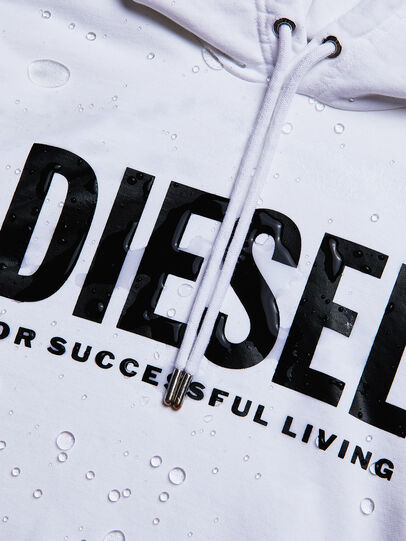 Diesel - S-GIR-HOOD-DIVISION-, White - Sweaters - Image 5
