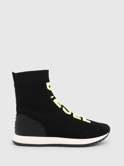 Diesel - SLIP ON 04 MID SOCK, Black - Footwear - Image 1