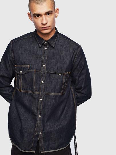 Diesel - D-MILLY, Dark Blue - Denim Shirts - Image 1