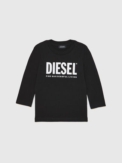 Diesel - TJUSTLOGOB ML-R, Black - T-shirts and Tops - Image 1