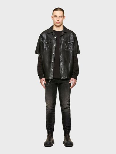 Diesel - S-WOLF-L, Black - Leather jackets - Image 4