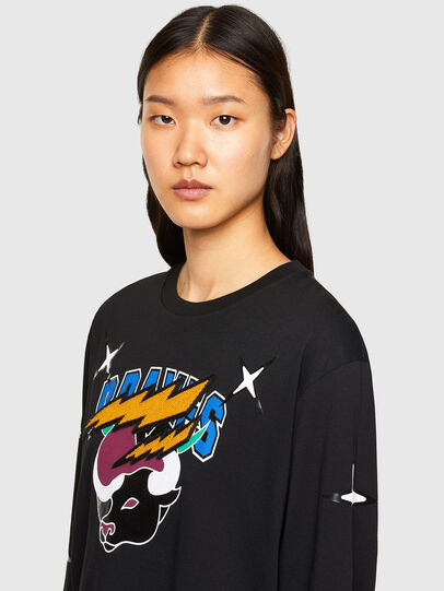 Diesel - CL-T-JUST-LS-O, Black - T-Shirts - Image 6