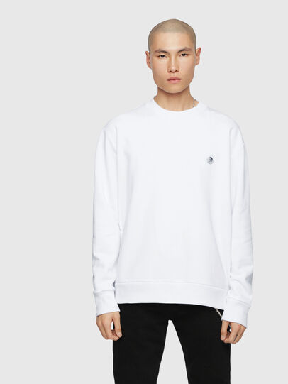 Diesel - S-LINK, White - Sweaters - Image 1