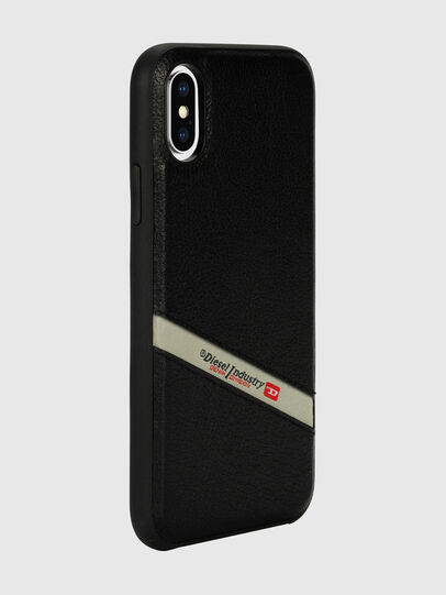 Diesel - DIESEL LEATHER CO-MOLD CASE FOR IPHONE XS & IPHONE X, Black - Cases - Image 6