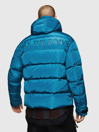 Diesel - W-SMITH-YA, Blue Marine - Winter Jackets - Image 2