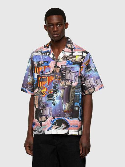 Diesel - S-DOOMY, Blue/Pink - Shirts - Image 1